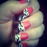 Nail Art – Zebra and Pink